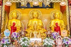 Το χρυσό άγαλμα του Βούδα, κλείνει επάνω Στοκ Εικόνες