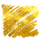 Το χρυσό έμβλημα hand-drawn επίσης corel σύρετε το διάνυσμα απεικόνισης Στοκ Φωτογραφία