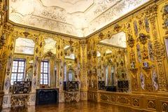 Το χρυσό γραφείο στο χαμηλότερο πανοραμικό πυργίσκο Στοκ εικόνες με δικαίωμα ελεύθερης χρήσης