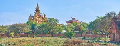 Το χρυσό παλάτι σε Bagan, το Μιανμάρ Στοκ εικόνες με δικαίωμα ελεύθερης χρήσης
