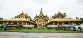 Το χρυσό παλάτι Kambawzathardi σε Bago του Μιανμάρ, παλάτι Kanbawzathadi χτίστηκε από το βασιλιά Bayinnaung (1551-1581 Α δ ) ο ιδ Στοκ Φωτογραφία