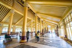 Το χρυσό παλάτι Kambawzathardi σε Bago του Μιανμάρ, παλάτι Kanbawzathadi χτίστηκε από το βασιλιά Bayinnaung (1551-1581 Α δ ) ο ιδ Στοκ φωτογραφίες με δικαίωμα ελεύθερης χρήσης