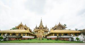 Το χρυσό παλάτι Kambawzathardi σε Bago του Μιανμάρ, παλάτι Kanbawzathadi χτίστηκε από το βασιλιά Bayinnaung (1551-1581 Α δ ) ο ιδ Στοκ Εικόνες