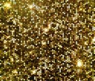 Το χρυσό σπινθήρισμα ακτινοβολεί υπόβαθρο τσεκιών Στοκ φωτογραφία με δικαίωμα ελεύθερης χρήσης
