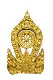 Το χρυσό σύμβολο Thammachak του βουδισμού Στοκ εικόνα με δικαίωμα ελεύθερης χρήσης