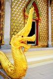 Το χρυσό Nagas Στοκ φωτογραφία με δικαίωμα ελεύθερης χρήσης