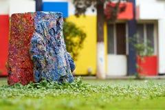Το χρωματισμένο κολόβωμα δέντρων στοκ φωτογραφίες με δικαίωμα ελεύθερης χρήσης