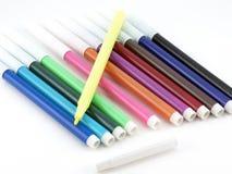 το χρώμα αισθάνθηκε τις πέν&n Στοκ εικόνες με δικαίωμα ελεύθερης χρήσης