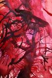 Το χρώμα καλύπτει τις ζωγραφισμένες στο χέρι αφηρημένες γκουας Στοκ Εικόνα