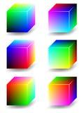 το χρώμα κυβίζει rgb Στοκ Εικόνες