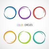Το χρώμα ομορφιάς έξι περιβάλλει 2 σύνολο Στοκ Εικόνα