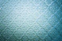 Το χρώμα του λεκιασμένου παραθύρου γυαλιού διακοσμεί στην οικοδόμηση Στοκ Εικόνα