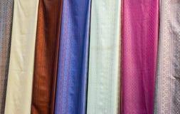 Το χρώμα του ταϊλανδικού μεταξιού στοκ φωτογραφία με δικαίωμα ελεύθερης χρήσης