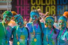 Το χρώμα τρέχει στην Πράγα, Τσεχία Στοκ εικόνες με δικαίωμα ελεύθερης χρήσης