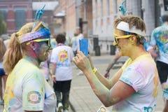 Το χρώμα των Βρυξελλών τρέχει το 2014 - Βρυξέλλες Στοκ εικόνες με δικαίωμα ελεύθερης χρήσης