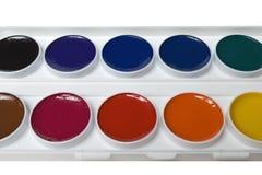 το χρώμα χρωματίζει το ύδωρ Στοκ Εικόνα