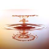Το χρώμα waterdrops αφορά την επιφάνεια και το bou νερού Στοκ εικόνες με δικαίωμα ελεύθερης χρήσης