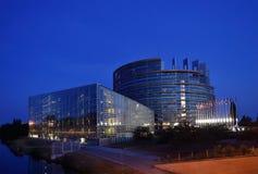 το χτίζοντας Ευρωπαϊκό Κοινοβούλιο Στρασβούργο Στοκ Εικόνες
