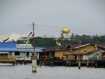 Το χωριό ή το Kampung Ayer νερού - χωριό στο νερό σε Bandar Seri Begawan, Μπρουνέι στοκ φωτογραφία με δικαίωμα ελεύθερης χρήσης