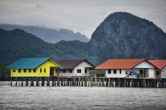 Το χωριό στο νερό Ταϊλάνδη Στοκ Εικόνες