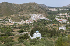 Το χωριό Aperi σε Karpathos, Ελλάδα Στοκ εικόνα με δικαίωμα ελεύθερης χρήσης