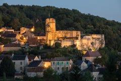 Το χωριό Carlux στην κοιλάδα Dordogne, Aquitaine, στοκ εικόνα με δικαίωμα ελεύθερης χρήσης