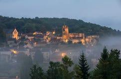 Το χωριό Carlux στην κοιλάδα Dordogne, Aquitaine, στοκ φωτογραφία με δικαίωμα ελεύθερης χρήσης