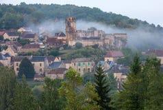 Το χωριό Carlux στην κοιλάδα Dordogne, Aquitaine, στοκ εικόνες