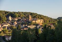 Το χωριό Carlux στην κοιλάδα Dordogne, Aquitaine, στοκ φωτογραφίες