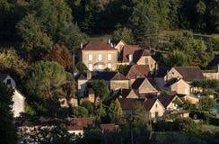 Το χωριό Carlux στην κοιλάδα Dordogne, Aquitaine, στοκ φωτογραφία