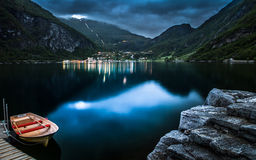 Το χωριό Geiranger στη Νορβηγία Στοκ εικόνες με δικαίωμα ελεύθερης χρήσης