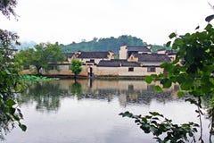 Το χωριό Hongcun με την υδρονέφωση στην επαρχία Anhui, Κίνα Στοκ φωτογραφία με δικαίωμα ελεύθερης χρήσης