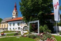 Το χωριό Igls κοντά στο Ίνσμπρουκ, Αυστρία στοκ εικόνες