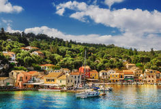 Το χωριό Loggos, Paxos, Ελλάδα Στοκ εικόνα με δικαίωμα ελεύθερης χρήσης