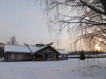 Το χωριό Mandrogi, Καρελία Στοκ Εικόνες