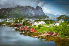 Το χωριό Reine Στοκ Φωτογραφία