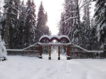 Το χωριό Roshchino Στοκ Φωτογραφία