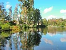 Το χωριό Tulinovka στη Ρωσία Στοκ Φωτογραφίες