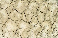 Το χώμα ράγισε από την ξηρασία και τον καψαλίζοντας ήλιο στοκ φωτογραφία