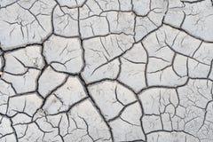 Το χώμα ράγισε από την ξηρασία και τον καψαλίζοντας ήλιο στοκ εικόνα