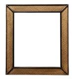 Το ψάθινο ξύλινο πλαίσιο εικόνων ινδικού καλάμου, ψάθινος ξύλινος καθρέφτης τοίχων ινδικού καλάμου διακοσμεί, απομονωμένος στο άσ Στοκ Εικόνα