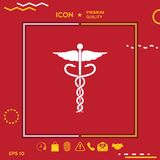 το ψαλίδισμα κηρυκείων περιέχει το ψηφιακό σύμβολο μονοπατιών απεικόνισης ιατρικό Στοκ φωτογραφία με δικαίωμα ελεύθερης χρήσης