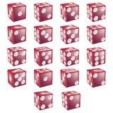 το ψαλίδισμα χωρίζει σε τετράγωνα το κόκκινο μονοπατιών Στοκ εικόνες με δικαίωμα ελεύθερης χρήσης