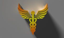το ψαλίδισμα κηρυκείων περιέχει το ψηφιακό σύμβολο μονοπατιών απεικόνισης ιατρικό στοκ εικόνες