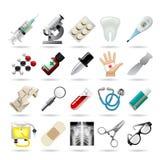 το ψαλίδισμα περιέχει το ψηφιακό εικονιδίων σύνολο μονοπατιών απεικόνισης ιατρικό Στοκ Εικόνα