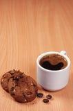 το ψαλίδισμα του καφέ περιέχει το μονοπάτι αρχείων φλυτζανιών μπισκότων Στοκ Φωτογραφίες