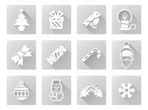 το ψαλίδισμα Χριστουγέννων περιέχει τα ψηφιακά μονοπάτια απεικόνισης εικονιδίων που τίθενται Στοκ φωτογραφίες με δικαίωμα ελεύθερης χρήσης