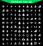 το ψαλίδισμα Χριστουγέννων περιέχει τα ψηφιακά μονοπάτια απεικόνισης εικονιδίων που τίθενται Στοκ Εικόνα