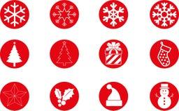 το ψαλίδισμα Χριστουγέννων περιέχει τα ψηφιακά μονοπάτια απεικόνισης εικονιδίων που τίθενται Στοκ Φωτογραφία