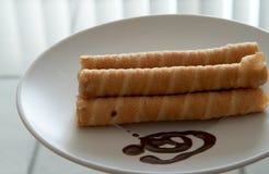 το ψημένο πιάτο στροβιλίζ&epsilo Στοκ φωτογραφία με δικαίωμα ελεύθερης χρήσης